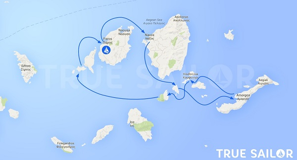 carte circuit cyclades grece