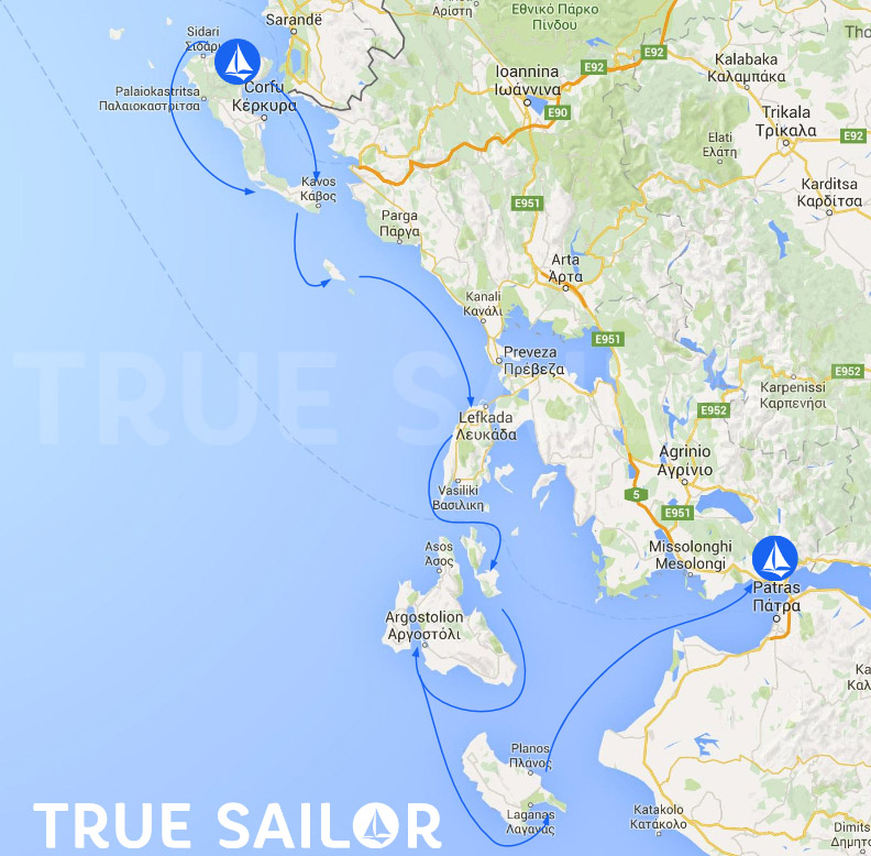 Croisière à la voile   Les iles Ioniennes   Grèce