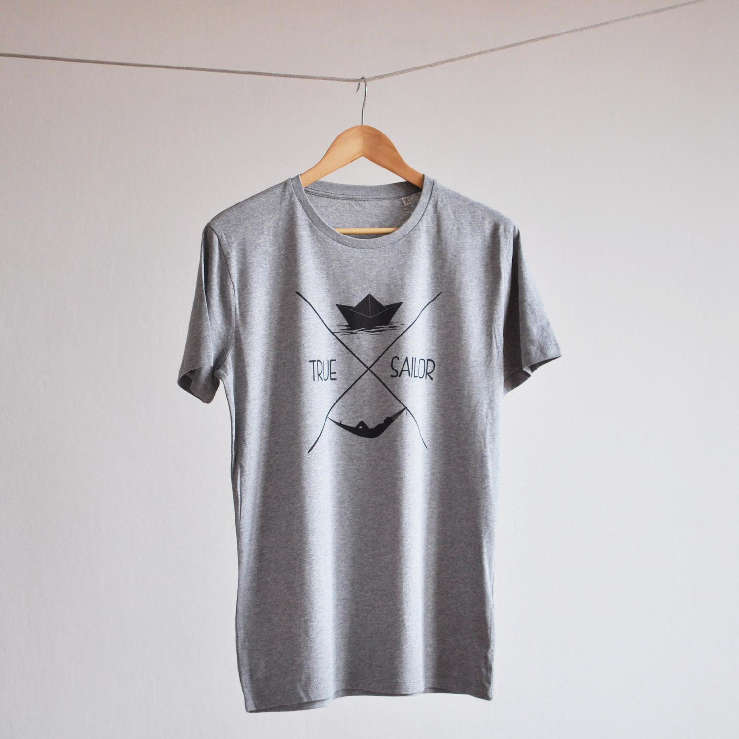 t-shirt true sailor gris chine